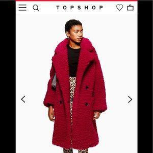 Topshop Big Borg Teddy Fur Coat